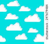 background pattern clouds | Shutterstock .eps vector #297679484