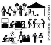 celebration party festival... | Shutterstock .eps vector #297684665
