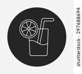 ice drink line icon | Shutterstock .eps vector #297688694