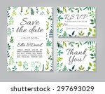 vector rustic wedding... | Shutterstock .eps vector #297693029
