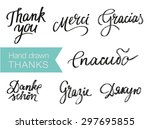 hand drawn elegant thank you... | Shutterstock .eps vector #297695855