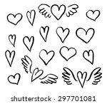 vector illustration hand drawn... | Shutterstock .eps vector #297701081