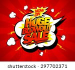 huge blowout sale vector pop... | Shutterstock .eps vector #297702371