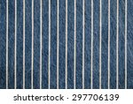 Navy Blue Striped Denim Textur...