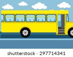vector illustration. school bus. | Shutterstock .eps vector #297714341