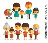 vector set of characters in a... | Shutterstock .eps vector #297722171