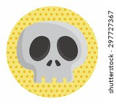 skull theme elements | Shutterstock .eps vector #297727367