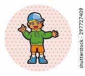 hip hop dancer theme elements   Shutterstock .eps vector #297727409