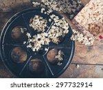 cinema concept of vintage film... | Shutterstock . vector #297732914