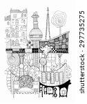 vienna illustration. abstract... | Shutterstock . vector #297735275