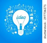 template idea infographics.... | Shutterstock .eps vector #297736271