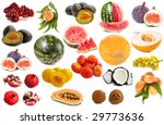 fruit collection isolated on a... | Shutterstock . vector #29773636