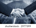 business hand shake and a... | Shutterstock . vector #2977399