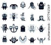 Cute Monsters Set In Flat...