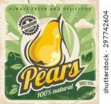 Retro Pear Poster Design....