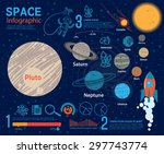 space infographic and education. | Shutterstock .eps vector #297743774