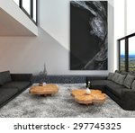 interior with sofa. 3d...   Shutterstock . vector #297745325