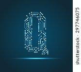 vector letter q logo  sign ... | Shutterstock .eps vector #297746075