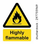 highly flammable sign | Shutterstock .eps vector #297755969