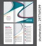 vector empty tri fold brochure... | Shutterstock .eps vector #297769199