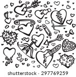 vector black and white... | Shutterstock .eps vector #297769259