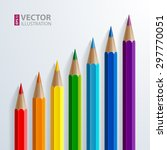 infographic rainbow color... | Shutterstock .eps vector #297770051