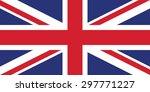 national flag of united kingdom | Shutterstock .eps vector #297771227