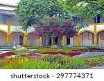 Patio With Blooming Flowers In...