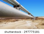 gas distribution pipeline | Shutterstock . vector #297775181