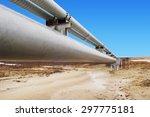 gas distribution pipeline | Shutterstock . vector #297775181