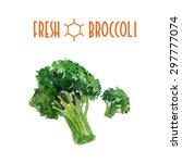 vector set of watercolor green... | Shutterstock .eps vector #297777074