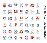 unusual icons set   isolated on ... | Shutterstock .eps vector #297780461