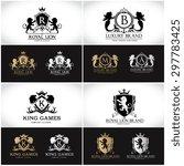 luxury crest ornamental logo... | Shutterstock .eps vector #297783425