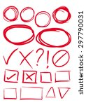 red hand draw element  box and... | Shutterstock .eps vector #297790031