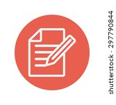 taking note thin line icon for...   Shutterstock .eps vector #297790844