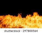 blaze fire flame texture... | Shutterstock . vector #297800564