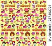 candyland fantasy background | Shutterstock .eps vector #297803729