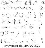 vector set of hand drawn black...   Shutterstock .eps vector #297806639