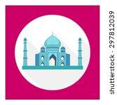 taj mahal icon | Shutterstock .eps vector #297812039