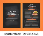 restaurant menu  template... | Shutterstock .eps vector #297816461