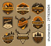 set of summer camping outdoor... | Shutterstock .eps vector #297820604