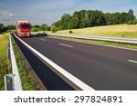 asphalt expressway with the red ...   Shutterstock . vector #297824891