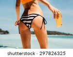 sporty young beautiful lady... | Shutterstock . vector #297826325