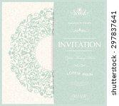 retro invitation or wedding... | Shutterstock .eps vector #297837641