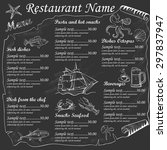seafood restaurant menu on... | Shutterstock .eps vector #297837947