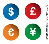 currency icon. currency... | Shutterstock .eps vector #297840671