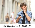 Furious Angry Man Watching App...