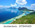aerial view of tropical island... | Shutterstock . vector #297845405