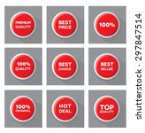 set of red  vector buttons | Shutterstock .eps vector #297847514