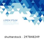 Abstract Blue Triangle Modern...